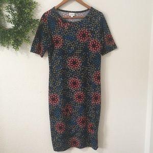 Lularoe Julia Multi Color Print Dress
